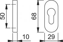 ROZETA HP OWALNA 30PS PZ 29/10 CZ(2 SZT)