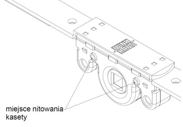 Kaseta naprawcza zasuwnicy activPilot Winkhaus - nitowanie