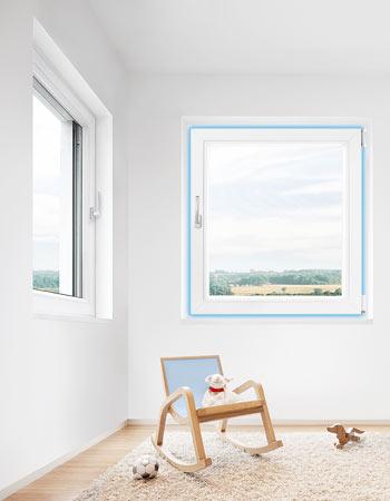 Okno z okuciem activPilot Comfort PADK - odwrócona kolejność otwierania i funkcja bezpiecznego wietrzenia
