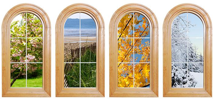 okna pory roku