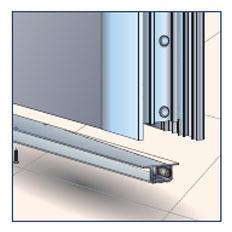 Drzwi bezprogowe z zamontowanym progiem opadającym