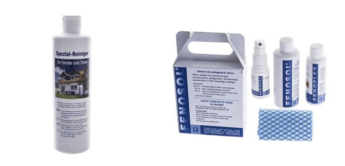 mleczko do czyszczenia okien i zestaw pielęgnacyjny Fenosol