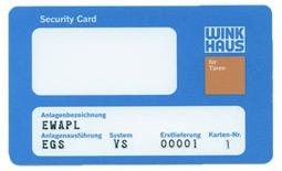 karta do wkładki Winkhaus