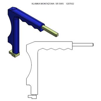 klamka montażowa SWS
