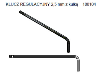 klucz imbusowy 2,5 mm