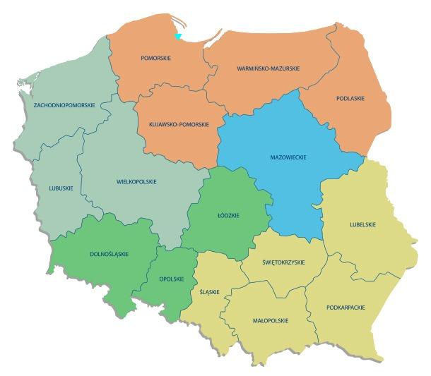 Mapka - przedstawiciele ds zabezpieczeń Winkhaus